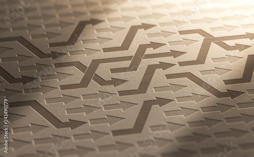 Obraz na plátně Structural Reorganization Concept