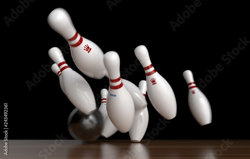 Fotografie, Obraz  bowling