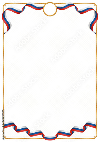 Photo  Frame and border of Czech Republic colors flag