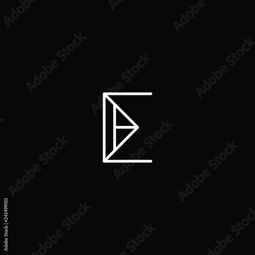Photo  Outstanding professional elegant trendy awesome artistic black and white color E EE EM ME initial based Alphabet icon logo