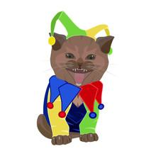 Cute Funny Kitten In April Foo...