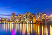 West Palm Beach, Florida, USA Skyline On The Intracoastal Waterway
