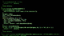 A Simple Source Code Text Animation From A Public Domain Project. Useful As Texture / Overlay Or Inside A Computer Monitor. Tilt-shift Effect Scrolling, Green Words On A Black Background.