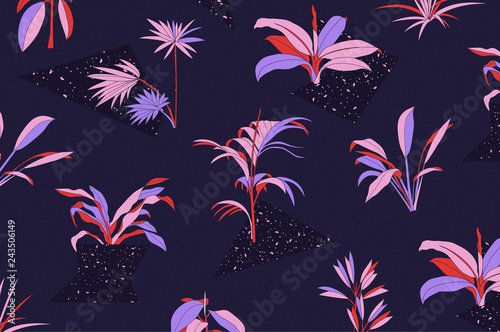 Tropical Plant Pattern - 243506149