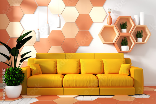 Modern Living Room Interior With Armchair Decoration And