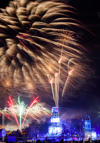 Foto  fireworks for the opening of Plovdiv 2019 - the cultural capital of Europe_2