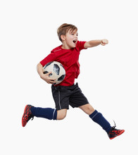 Fussballer Junge Triumphiert