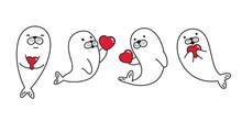 Seal Animal Vector Heart Valen...