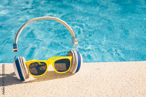 Youth hipster vacation in the best resorts in the world - a tropical paradise - copy space - 243510390
