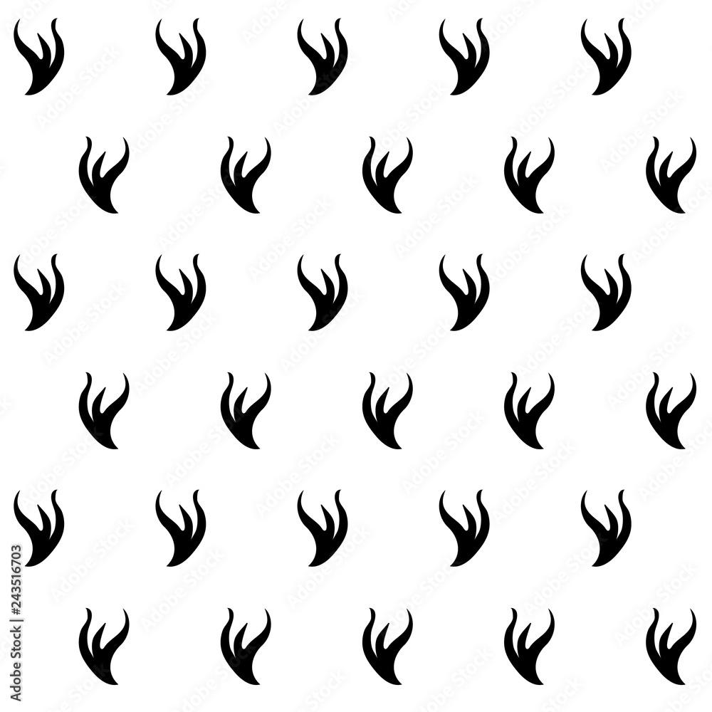 Fotografie, Obraz Stilyzed ermine fur seamless pattern