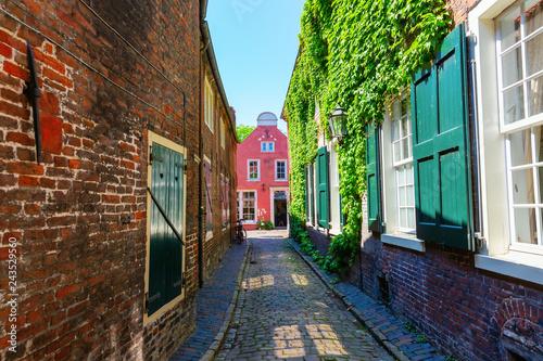 picturesque alley in Leer, Ostfriesland, Germany