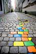 canvas print picture - bunte Stadt
