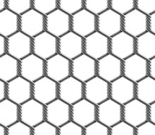Vector Seamless Pattern Of Hex...