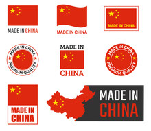Made In China Labels Set, Chin...