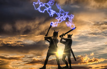 Mythical Duel Between Two Old ...