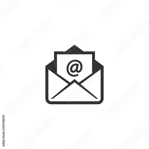 Photo Open envelope with at sign letter vector icon