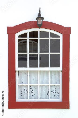 Fotografía  Janela de casa colonial em Ouro Preto, Brasil