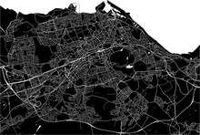 Map Of The City Of Edinburgh, Scotland, United Kingdom