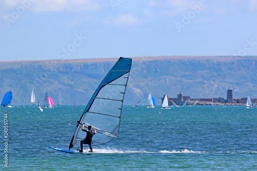 Windsurfer in Portland Harbour