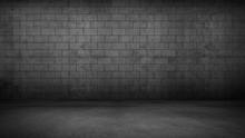 Ziegelmauer Beton Wand Stein Boden Dunkel Hintergrund