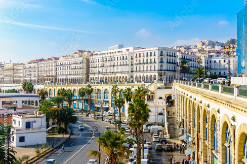 Algeria view of the waterfront from the Admiralty, Algiers Wallpaper Mural