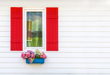 Colorful Window Frames With Wo...