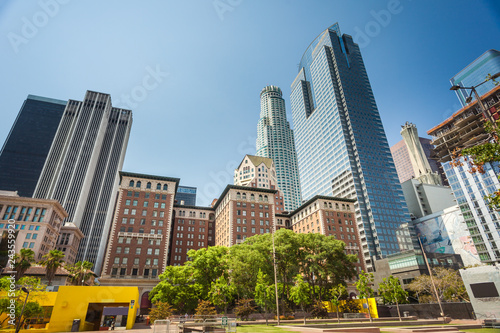 Fotografie, Tablou Pershing square in downtown of Los Angeles,
