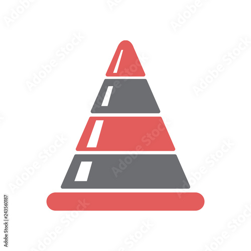 Fotografía  Safety cone icon on white background for graphic and web design, Modern simple vector sign