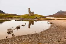 Ardvreck Castle By Loch Assynt In Scottish Higlands