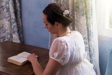 Regency Woman Reading Book