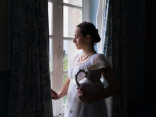 Vintage Lady At The Window