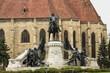 King Matthias Corvin Statue in Cluj-Napoca, Romania,2017