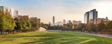 Panoramic View Of Santiago Skyline At Araucano Park - Santiago, Chile