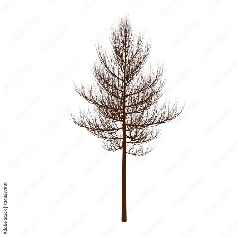 木 枯れ木 冬 アイコン
