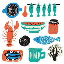 Scandinavian Food Concept. Han...