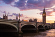 Big Ben Clock Tower and Westminster Bridge, London, United Kingdom