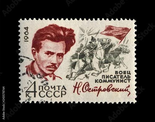 Photo  Ostrovsky Nikolai (1904-1936), famous russian writer, commissar, circa 1971