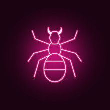 Ant  Icon. Elements Of Pest Control And Insect In Neon Style Icons. Simple Icon For Websites, Web Design, Mobile App, Info Graphics