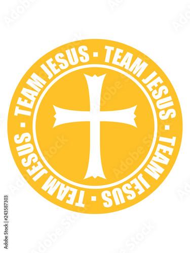 Fotografie, Tablou  gott religion kreis stempel rund team kirche symbol kreuz jesus christus christ