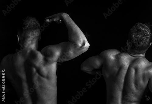 Fotografie, Obraz  portrait of muscular guys