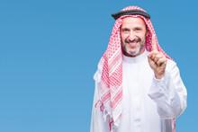 Senior Arab Man Wearing Keffiy...