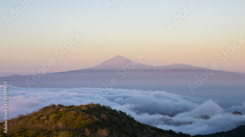 Recess Fitting Canary Islands Panoramic view of Teide volcano from the island of la Gomera