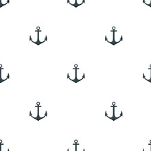 Seamless Pattern With Anchors And Seagulls