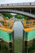 Erie Canal Locks In Lockport, NY