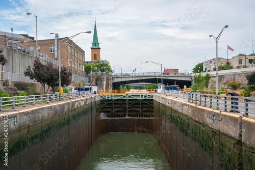Photo  Erie Canal Locks in Lockport, NY
