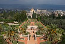 Bahai Gardens And Temple In Haifa, Israel