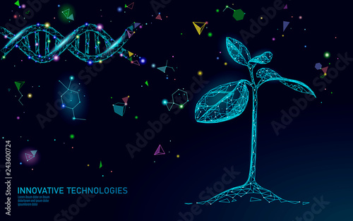 Fotografía  Plant sprout biotechnology abstract concept
