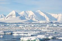 Antarctic Icebergs In The Wate...