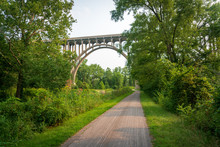 Walking Path Along The River At Cuyahoga Valley National Park