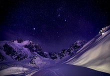 Nightscape In The Mountains